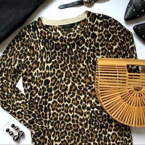 J. Crew Tippi Sweater in Leopard Print